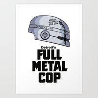 Full Metal Cop Art Print