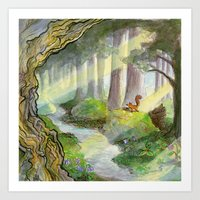 Ithilien, By A Quiet Str… Art Print