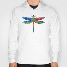 Colorful Dragonfly Art B… Hoody