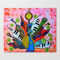 FEATHERED FANFARE Canvas Print