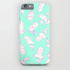 Lazy Cat Pattern Solid Slim Case iPhone 6s