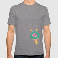 Letter O Mens Fitted Tee Tri-Grey SMALL
