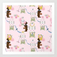 Easter Bunny Factory 12 x 12 Art Print