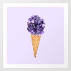 Rocky Road Ice Cream Art Print