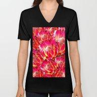 PinkFlower9 Unisex V-Neck