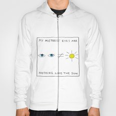 My mistress' eyes are nothing like the sun comic Hoody