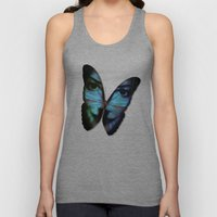 AM I A BUTTERFLY DREAMING I AM AN HUMAN Unisex Tank Top