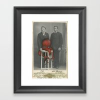 Altered Photo With Oil P… Framed Art Print