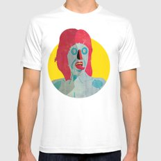 Tongue 02 SMALL White Mens Fitted Tee