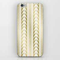 Moroccan Stripes Gold iPhone & iPod Skin
