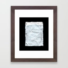UNKNOWN PAPER Framed Art Print