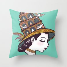 Bird House Couture Throw Pillow