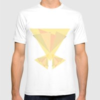 Centro Mens Fitted Tee White SMALL