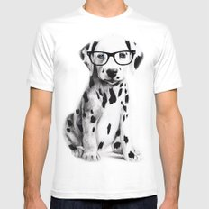 Bingo SMALL White Mens Fitted Tee