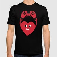 Gaming Heart Mens Fitted Tee Black SMALL