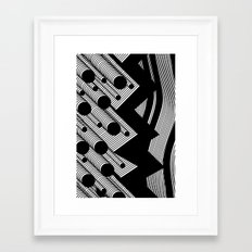 Driving Particles Framed Art Print