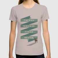 The Mighty Chihuahua Womens Fitted Tee Cinder SMALL