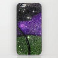 Purple Starry Eyed Dog iPhone & iPod Skin