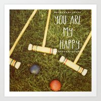 You Are My Happy Art Print