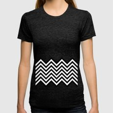Black Lodge Dreams (Twin Peaks) Womens Fitted Tee Tri-Black SMALL