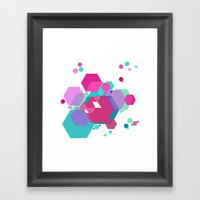 Hex Pattern Framed Art Print