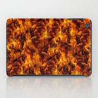 iPad Case featuring Fire And Flames Pattern by Gravityx9