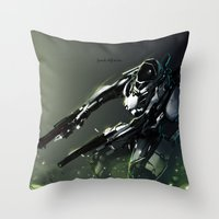 Dual Gunner Throw Pillow