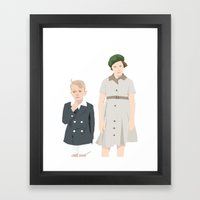 Ginny and Charles on the Boat Framed Art Print