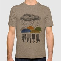 Cloudy Days For Uppercas… Mens Fitted Tee Tri-Coffee SMALL