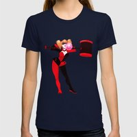 Bubblegum & Mallets Womens Fitted Tee Navy SMALL