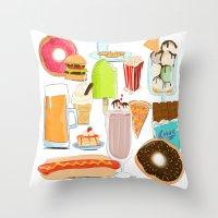 Food Stuffs Throw Pillow
