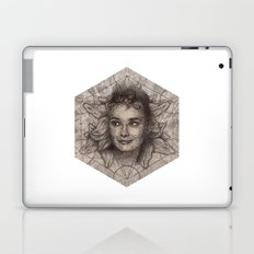 Audrey Hepburn dot work portrait Laptop & iPad Skin