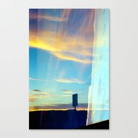 Triple Sunset Canvas Print