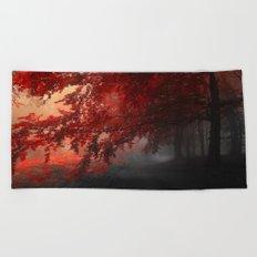 Autumn mood  Beach Towel