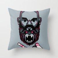 Wild BEARd Throw Pillow