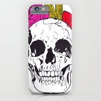 iPhone & iPod Case featuring Skull I by NikkiMaths