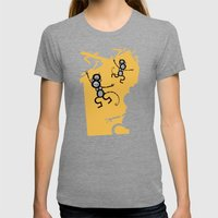 Monkeys Womens Fitted Tee Tri-Grey SMALL