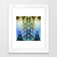 sunset block Framed Art Print