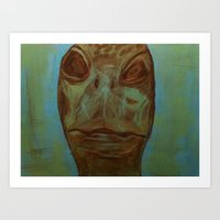 Portrait of a Turtle Art Print