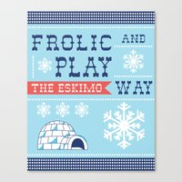 Frolic And Play Canvas Print