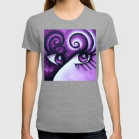 Expressive Eyes Womens Fitted Tee Tri-Grey SMALL