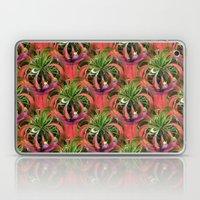 Flower Circle In Pink Gr… Laptop & iPad Skin
