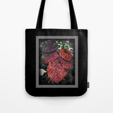 Speckled Leafs Tote Bag