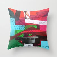 Ceci n´est pas un collage Throw Pillow