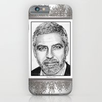 iPhone & iPod Case featuring George Clooney in 2009 by JMcCombie