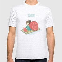Cozy snail Mens Fitted Tee Ash Grey SMALL