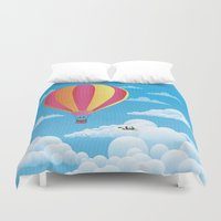Picnic In A Balloon On A… Duvet Cover