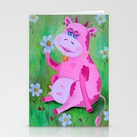 cow Stationery Cards featuring Cow by OLHADAR