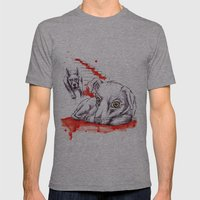 Dogs Mens Fitted Tee Athletic Grey SMALL