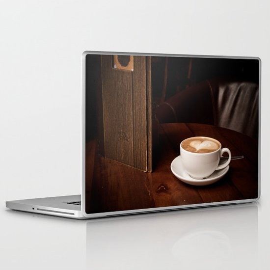coffee with heart Laptop & iPad Skin